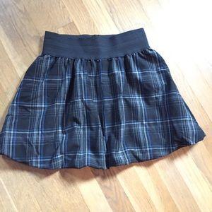 Plaid Crimson and Clover Elastic Waist Skirt